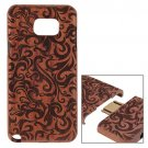 For Galaxy Note 5 Grass Pattern Separable Rosewood Wooden Case