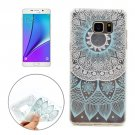For Galaxy Note 5 Blue Pattern Soft TPU Protective Back Cover Case