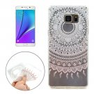 For Galaxy Note 5 Pink Pattern Soft TPU Protective Back Cover Case