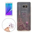 For Galaxy Note 5 Bike Pattern Soft TPU Protective Back Cover Case