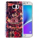 For Galaxy Note 5 IMD Flowers Pattern Blu-ray Soft TPU Protective Case