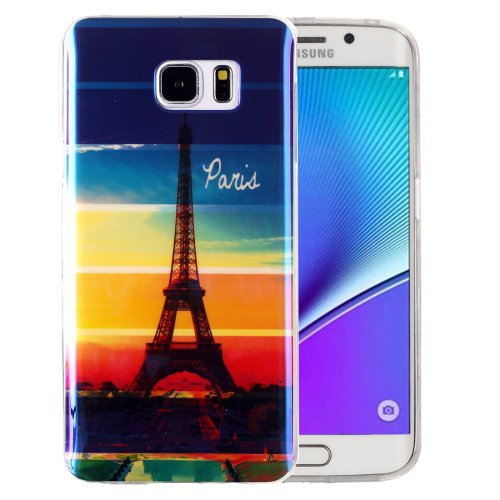 For Galaxy Note 5 IMD Eiffel Tower Pattern Blu-ray Soft TPU Protective Case