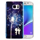 For Galaxy Note 5 IMD Dandelion Pattern Blu-ray Soft TPU Protective Case