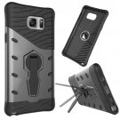 For Galaxy Note 5 Black Rotating Tough Armor TPU+PC Case with Holder