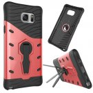For Galaxy Note 5 Red Rotating Tough Armor TPU+PC Case with Holder