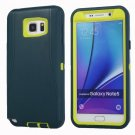 For Galaxy Note 5 Green+Yellow Hybrid TPU Bumper PC Combination Case