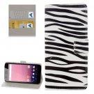 For Google Pixel XL Zebra Pattern Leather Case with Holder, Card Slots & Wallet