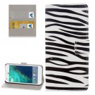 For Google Pixel Zebra Pattern Leather Case with Holder, Card Slots & Wallet