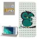 For Google Pixel Owl Pattern Leather Case with Holder, Card Slots & Wallet