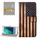 For Google Pixel US Flag Pattern Leather Case with Holder, Card Slots & Wallet