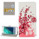 For Google Pixel Blossom Pattern Leather Case with Holder, Card Slots & Wallet