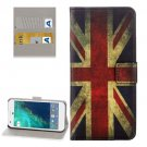 For Google Pixel UK Flag Pattern Leather Case with Holder, Card Slots & Wallet
