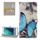 For Google Pixel Butterfly Pattern Leather Case with Holder, Card Slots & Wallet