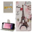 For Google Pixel XL Eiffel Pattern Leather Case with Holder, Card Slots & Wallet