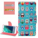 For Google Pixel Owls Pattern Leather Case with Holder, Card Slots & Wallet