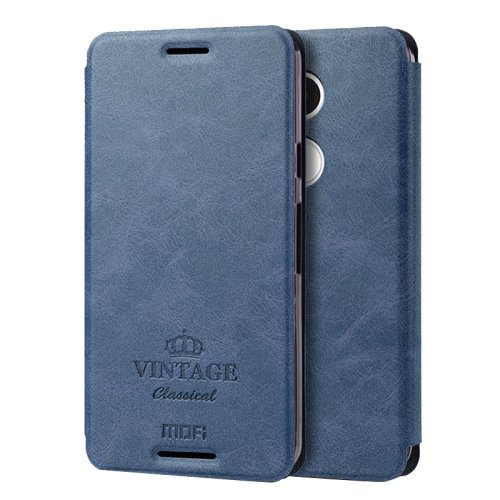For Nexus 5X Dark Blue Mofi Vintage Leather Case with Holder, Card Slots & Wallet