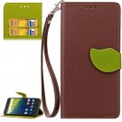 For Nexus 6P Brown Litchi Leaf Leather Case with Holder, Card Slots & Wallet