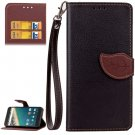 For Nexus 5X Black Litchi Leaf Leather Case with Holder, Card Slots & Wallet