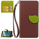 For Nexus 5X Brown Litchi Leaf Leather Case with Holder, Card Slots & Wallet