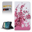 For Nexus 5X Blossom Pattern Leather Case with Holder, Card Slots & Wallet