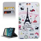 For Nexus 5X Paris Pattern Leather Case with Holder, Card Slots & Wallet