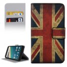 For Nexus 5X UK Flag Pattern Leather Case with Holder, Card Slots & Wallet