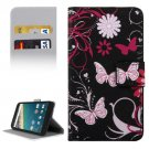 For Nexus 5X Flower Pattern Leather Case with Holder, Card Slots & Wallet