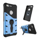 For Google Pixel Blue Rotating Tough Armor TPU+PC Case with Holder