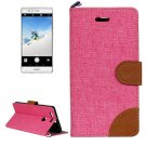 For Huawei P9 Denim Pink Leather Case with Holder & Card Slots