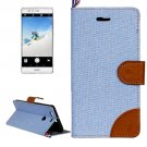 For Huawei P9 Denim Blue Leather Case with Holder & Card Slots