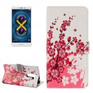 For Honor 6X Blossom Pattern Leather Case with Holder, Card Slots & Wallet