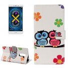 For Honor 6X Lovers Owl Pattern Leather Case with Holder, Card Slots & Wallet