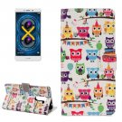 For Honor 6X Heads Owls Pattern Leather Case with Holder, Card Slots & Wallet