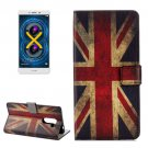 For Honor 6X UK Flag Pattern Leather Case with Holder, Card Slots & Wallet