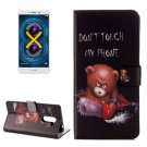 For Honor 6X Little Bear Pattern Leather Case with Holder, Card Slots & Wallet