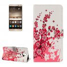 For Huawei Mate 9 Blossom Leather Case with Holder, Card Slots & Wallet