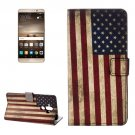 For Huawei Mate 9 US Flag Leather Case with Holder, Card Slots & Wallet
