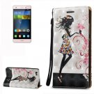For Huawei P8 Lite 3D Fairy Leather Case with Holder, Card Slots & Lanyard