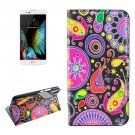 For Huawei Y6 Acaleph Pattern Leather Case with Holder, Card Slots & Wallet