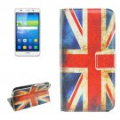 For Huawei Y6 UK Flag Pattern Leather Case with Holder, Card Slots & Wallet