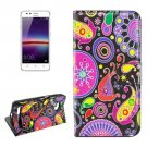 For Huawei Y3 II Acaleph Pattern Leather Case with Holder, Card Slots & Wallet