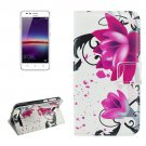 For Huawei Y3 II Lotus Pattern Leather Case with Holder, Card Slots & Wallet