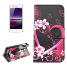 For Huawei Y3 II Peach Pattern Leather Case with Holder, Card Slots & Wallet