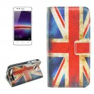 For Huawei Y3 II UK Flag Pattern Leather Case with Holder, Card Slots & Wallet