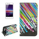 For Huawei Y3 II Meteor Pattern Leather Case with Holder, Card Slots & Wallet