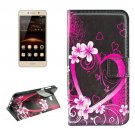 For Huawei Y5 II Blossom Pattern Leather Case with Holder, Card Slots & Wallet