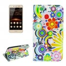 For Huawei Y5 II Fireworks Pattern Leather Case with Holder, Card Slots & Wallet