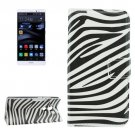 For Huawei Mate 8 Zebra Pattern Leather Case with Holder, Card Slots & Wallet