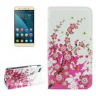 For Honor 4X Blossom Pattern Leather Case with Holder, Card Slots & Wallet