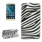 For Honor 4X Zebra Pattern Leather Case with Holder, Card Slots & Wallet
